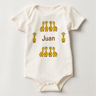 Personalize Giraffe Juan infant baby Romper