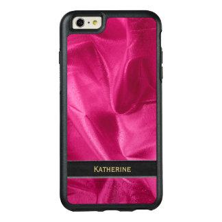 Personalize: Girly Faux Fuchsia Lame' Metallic OtterBox iPhone 6/6s Plus Case