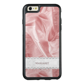 Personalize: Girly Faux Pink Lame' Metallic Fabric OtterBox iPhone 6/6s Plus Case