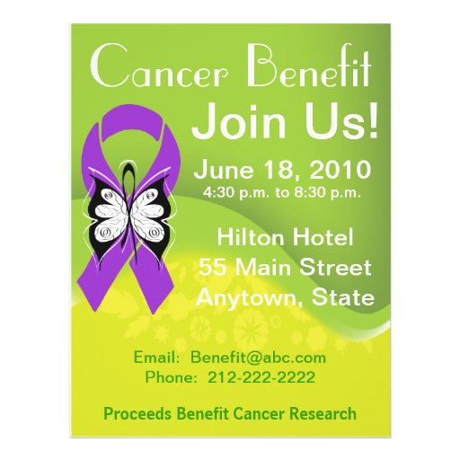 Personalize GIST Cancer Fundraising Benefit Personalized Flyer