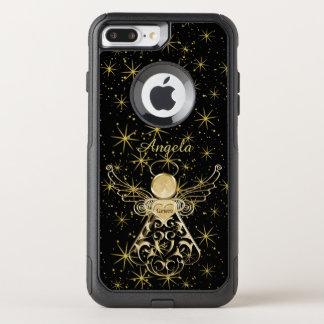 Personalize: Gold/Black Christmas Angel of Grace OtterBox Commuter iPhone 8 Plus/7 Plus Case