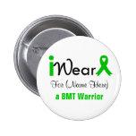 Personalize Green Ribbon Bone Marrow Transplant Pins