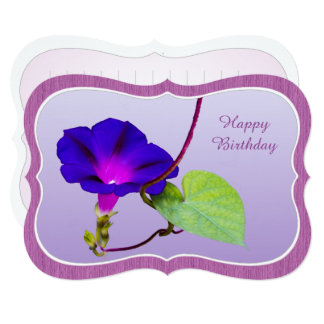 "Personalize: ""Happy Birthday"" Morning Glory Card"