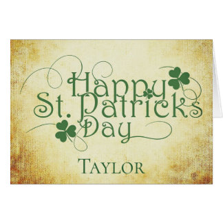 Personalize Happy St Patricks Day Card