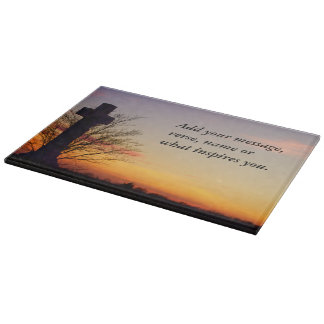 (Personalize) Holy Cross at Sunset Cutting Board