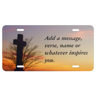 (Personalize) Holy Cross at Sunset License Plate