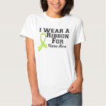 Personalize I Wear a Lime Green Ribbon Tees