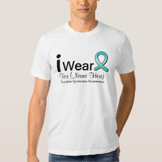 Personalize I Wear a Tourette Syndrome Ribbon Tee Shirt