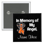Personalize In Memory of My Angel Leukaemia 2 Inch Square Button