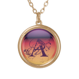 Personalize Initial for All words Round Pendant Necklace