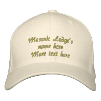 Personalize Initials Masonic Lodge Embroidered Baseball Cap