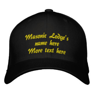 Personalize Initials Masonic Lodge Embroidered Hat