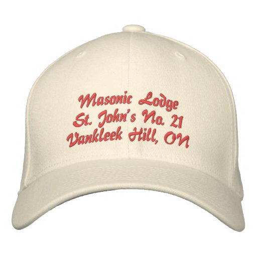 Personalize Initials Masonic Lodge Hat Embroidered Hat
