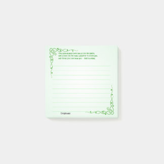 Personalize:  Irish Blessing (#3) Celtic Braids Post-it Notes