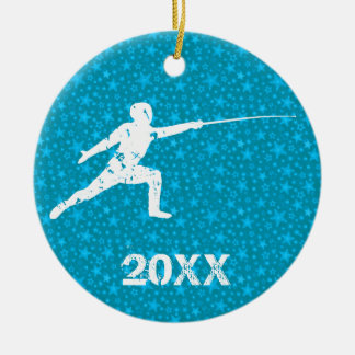 Personalize It, Fencing Ceramic Ornament