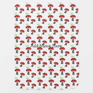 Personalize it! Mushroom meadow baby Baby Blanket