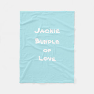 "Personalize ""Jackie Bundle of Love"" Baby Blankets"