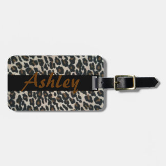 Personalize Leopard Print Band Luggage Tag