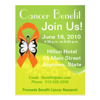 Personalize Leukemia Cancer Fundraising Benefit Full Color Flyer