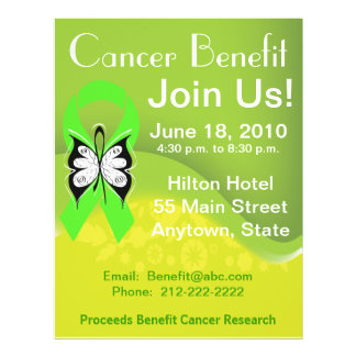 Personalize Lymphoma Fundraising Benefit Personalized Flyer