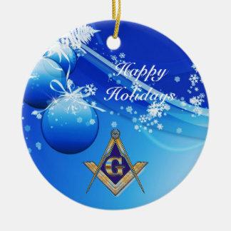 Personalize Masonic Emblem Ceramic Ornament