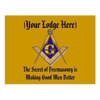 Personalize Masonic Lodge Postcard
