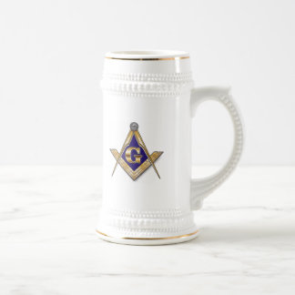 PERSONALIZE MASONIC SQUARE AND COMPASS BEER STEIN