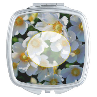 Personalize Me! White Blossoms Compact Mirror