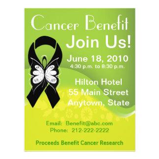 Personalize Melanoma Cancer Fundraising Benefit Full Colour Flyer