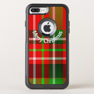 Personalize Merry Christmas Holiday Tartan Pattern OtterBox Commuter iPhone 8 Plus/7 Plus Case