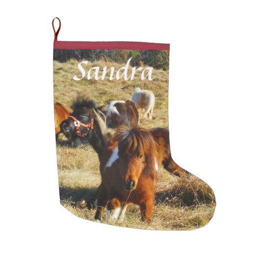 Personalize miniature Horse ponies Large Christmas Stocking
