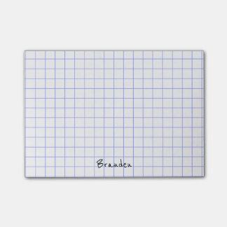 Personalize:  Minimalist Grid Paper Notes Monogram