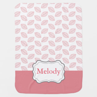 Personalize Modern Baby Nature, Customizable Color Baby Blanket