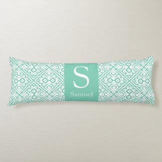 Personalize Modern Monogram Moroccan Lattice Body Pillow