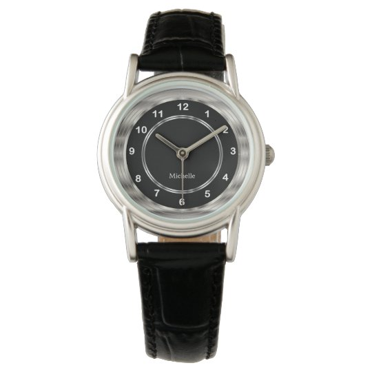 Personalize Modern Style with White Numbers Wristwatch