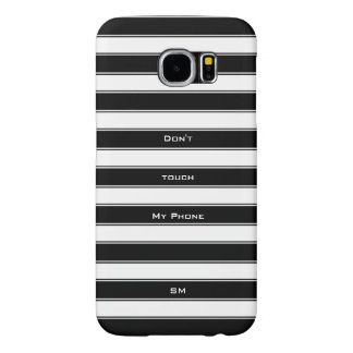 Personalize Modern Unisex Stripes Pattern Samsung Galaxy S6 Cases
