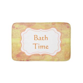 Personalize Modern Watercolor Paint Design Bathroom Mat