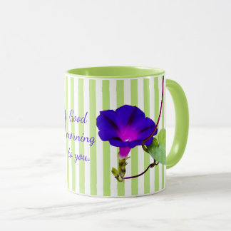 Personalize:  Morning Glory Floral Photography Mug