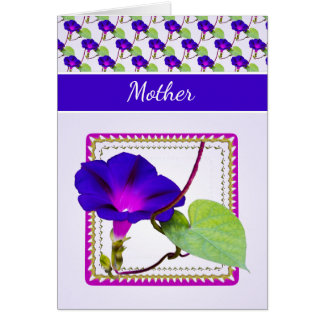 Personalize Mother's Day Morning Glory Photography Card