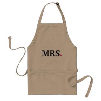 personalize Mrs. Wife Bride Newlywed Standard Apron