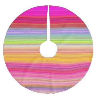 Personalize - Multicolor gradient background Brushed Polyester Tree Skirt