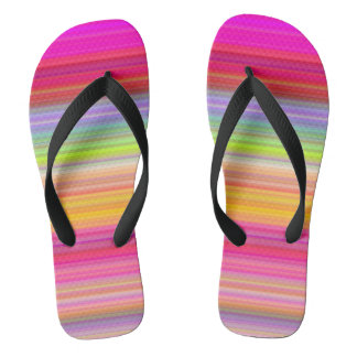 Personalize - Multicolor gradient background Flip Flops