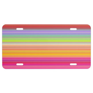 Personalize - Multicolor gradient background License Plate
