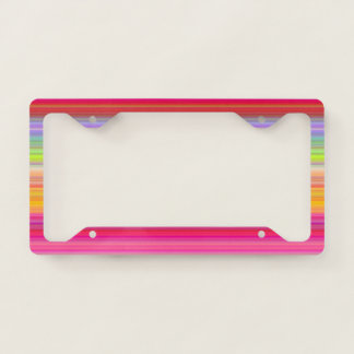 Personalize - Multicolor gradient background License Plate Frame