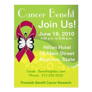 Personalize Myeloma Cancer Fundraising Benefit Custom Flyer