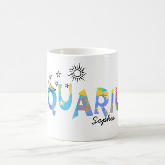 Personalize Name-AQUARIUS Birthday Zodiac Mug
