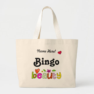 Personalize Name Beautiful Bingo Lover Large Tote