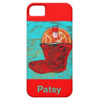 Personalize Name: Red Cowboy Boot Iphone Case