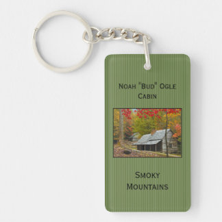 "Personalize: Noah ""Bud"" Ogle Cabin in the Smokies Keychain"