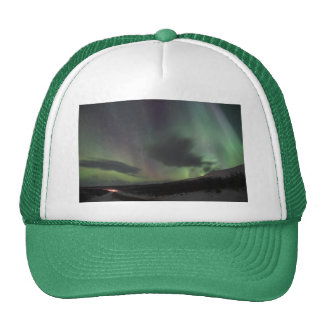 Personalize Northern-Lights Aurora Borealis Sky Trucker Hat